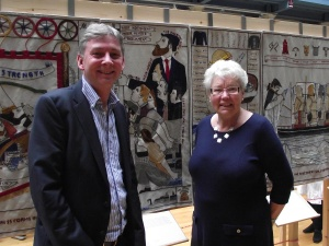 Richard and Rita with the Keir Hardie panel